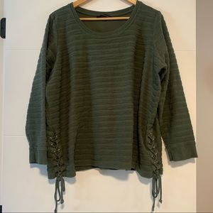 Love & Legend   Lace Sided Sweater